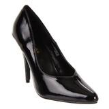 Noir Verni 13 cm SEDUCE-420V escarpins à bout pointu