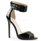 Noir Verni 13 cm SEXY-19 Sandales de Soirée a Talon