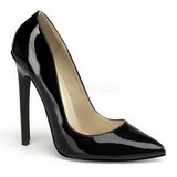 Noir Verni 13 cm SEXY-20 escarpins à talon aiguille bout pointu