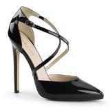 Noir Verni 13 cm SEXY-26 Chaussures Escarpins Classiques