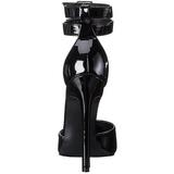 Noir Verni 13 cm SEXY-36 Escarpins Talon Aiguille Femmes