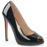 Noir Verni 13 cm SEXY-42 Chaussures Escarpins Classiques