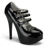 Noir Verni 14,5 cm Burlesque TEEZE-05 Chaussures pour femmes a talon