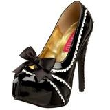 Noir Verni 14,5 cm Burlesque TEEZE-14 Chaussures pour femmes a talon