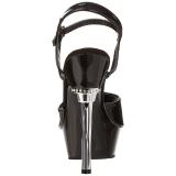 Noir Verni 14 cm ALLURE-609 Chaussures Stilettos