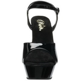 Noir Verni 14 cm Pleaser DIAMOND-609 Chaussures Stilettos