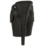 Noir Verni 15,5 cm DELIGHT-601 Plateforme Mules Hautes