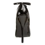 Noir Verni 15,5 cm DOMINA-431 escarpins à talons hauts