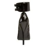Noir Verni 15,5 cm DOMINA-434 escarpins à talons hauts