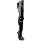 Noir Verni 15,5 cm SCREAM-3010 Bottes Cuissardes Talons Hauts