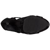 Noir Verni 15 cm DELIGHT-600-49 bottes gladiateur pour femmes a talon