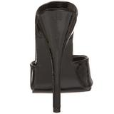 Noir Verni 15 cm DOMINA-101 Mules Talons Hauts