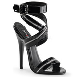 Noir Verni 15 cm DOMINA-119 high heels sandales femmes