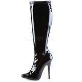 Noir Verni 15 cm DOMINA-2000 Bottes Femmes pour Hommes