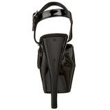Noir Verni 15 cm FUNTASMA JULIET-209 Talons Hauts Plateforme