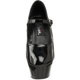 Noir Verni 15 cm KISS-280 Chaussures pour femmes a talon