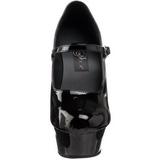 Noir Verni 15 cm PLEASER DELIGHT-687 Escarpins Haut Talon