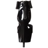 Noir Verni 15 cm Pleaser DELIGHT-670-3 Plateforme Haut Talon