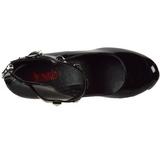 Noir Verni 16 cm CRAMPS-03 Chaussures Escarpins Gothique
