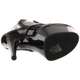 Noir Verni 18 cm ADORE-1020 bottines plateforme pour femmes