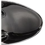 Noir Verni 18 cm ADORE-3050 Plateforme cuissardes et genoux