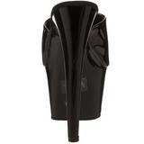 Noir Verni 18 cm ADORE-701 Plateforme Mules Hautes