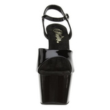 Noir Verni 18 cm ADORE-709 Plateforme Chaussures Talon Haut
