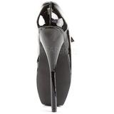 Noir Verni 18 cm BALLET-08 Fetish Talons Aiguilles Escarpins