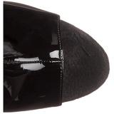 Noir Verni 18 cm Pleaser ADORE-1018 Plateforme Bottines