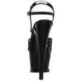 Noir Verni 18 cm Pleaser MOON-709 Plateforme Haut Talon