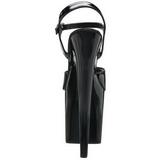 Noir Verni 20 cm Pleaser FLAMINGO-809 Talons Hauts Plateforme
