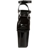 Noir Verni 20 cm Pleaser XTREME-873 Talons Aiguilles Plateforme