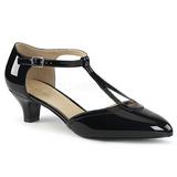 Noir Verni 5 cm FAB-428 grande taille escarpins femmes