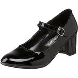 Noir Verni 5 cm SCHOOLGIRL-50 Chaussures Escarpins Classiques
