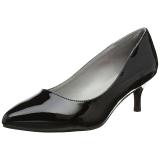 Noir Verni 6,5 cm KITTEN-01 grande taille escarpins femmes