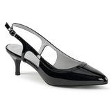 Noir Verni 6 cm KITTEN-02 grande taille escarpins femmes
