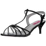 Noir Verni 6 cm KITTEN-06 grande taille sandales femmes