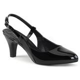 Noir Verni 7,5 cm DIVINE-418 grande taille escarpins femmes