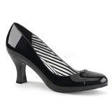 Noir Verni 7,5 cm JENNA-01 grande taille escarpins femmes