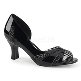 Noir Verni 7,5 cm JENNA-03 grande taille escarpins femmes