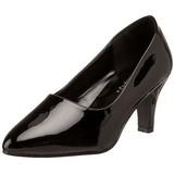 Noir Verni 8 cm DIVINE-420W Escarpins Chaussures Femme