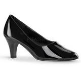 Noir Verni 8 cm DIVINE-420W escarpins à talons hauts