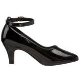 Noir Verni 8 cm DIVINE-431W Escarpins Chaussures Femme