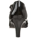 Noir Verni 8 cm DIVINE-440 Escarpins Talons Hauts Hommes