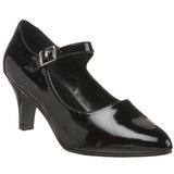 Noir Verni 8 cm DIVINE-440 escarpins à talons hauts