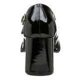 Noir Verni 8 cm GOGO-50 Escarpins Talon Haut