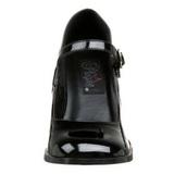 Noir Verni 8 cm GOGO-50 Escarpins Talons Hauts Hommes