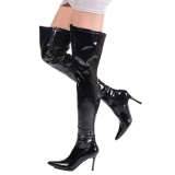 Noir Verni 9,5 cm LUST-3000 bottes overknee femme