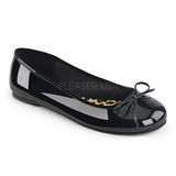 Noir Verni ANNA-01 grande taille chaussures ballerines