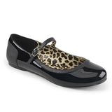 Noir Verni ANNA-02 grande taille chaussures ballerines